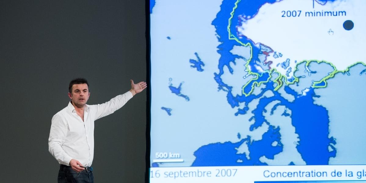 Changement de lieu - Pôle Nord cartographie 4 de Frédéric Ferrer